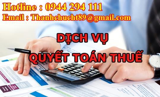 Dịch vụ quyết toán thuế trọn gói giá rẻ